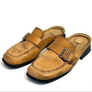 Thom McAn Shoes Leather Slip On Poron 4000